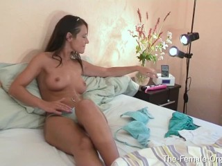 British Coed Jess West Vibes Her Clit to a Powerful Vulva Twitching Finish