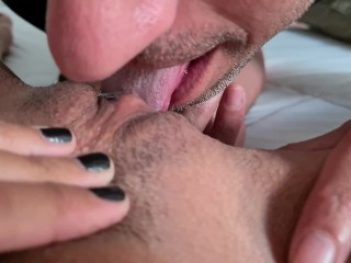 My first incredible couple sex. Footjob, licking pussy, pov blowjob, creamy pussy