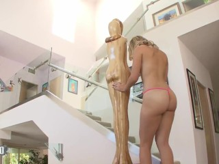 She loves to feel her tiny pink pussy fully filled by a big cock