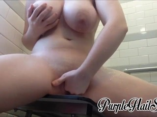 Shower fingering and multiple orgasms