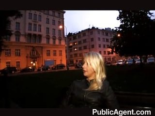 publicagent - fuck blonde in home
