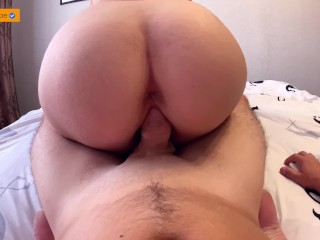 GF AFTER THE RED WEEK FOR THE FIRST TIME SAT ON THE DICK   CREAMPIE 4K
