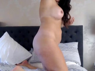 Housewife Em with perfect tits rubbing clit