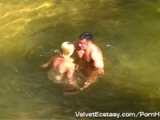 Nature Girl Skinny Dips and Gets Fucked Hard and Cums Hard.