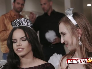 Kinky daughters decide to engage in hot orgy with their dads