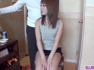 Nana Asano gets the dick hard and sperm on her hairy  - More at Slurpjp com