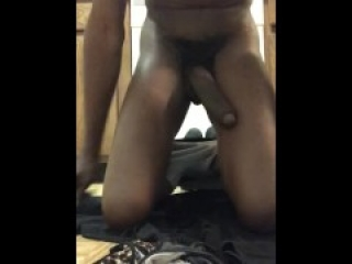 Jacking off with my gf's sister cum stained panties I got I stole
