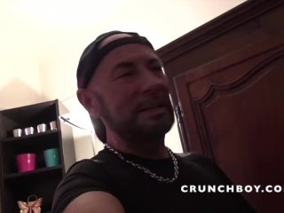 the sexy latino Anthony AUSTIN fucked bareback by KEVIN DAVID for CRUNCHBOY
