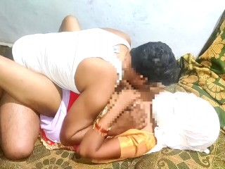 Sex with housewife in red sari