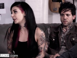 Naive Babysitter 3Way Fuck with Joanna Angel and Small Hands