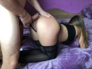 Amateur girl gets brutally anal doggy fuck and gaping asshole.HD