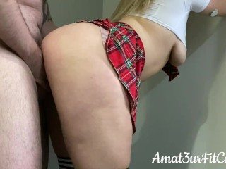 I Fucked My Bratty Stepsister Before School - Quivering Orgasm
