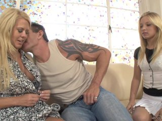 Alyssa Branch, Grace Evangelin Share Big Cock