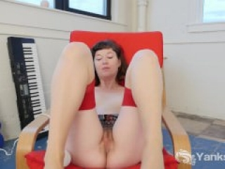 Sexy Turquoise Toying Her Pussy And Ass