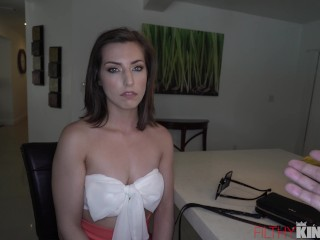 Big Dick Fucks Hot Teen in Kitchen While house is Empty