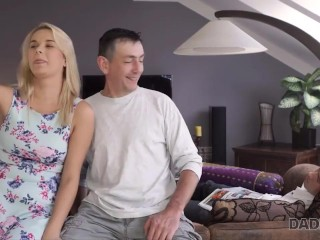 DADDY4K. Experienced guy penetrates sons hot GF while guy