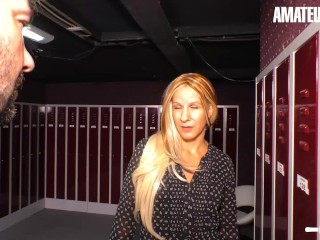 AmateurEuro - Rough SEX in The Locker Room With Kinky German Wife