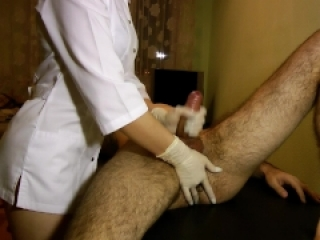 Hot Nurse Does Perfect Prostate Massage - POV Impulsive Chest Cumshot