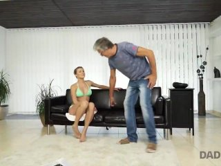 DADDY4K. Guy is surprised to catch his GF and father having dirty sex