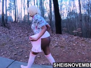 Msnovember Booty Fondled By Horny Step Father On Street Walk After Fuck on Sheisnovember