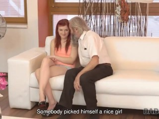 DADDY4K. Old pervert pleases sons girlfriend using skillful fingers